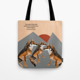 Wolves of the World: Iberian wolf (GREFA) Tote Bag