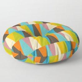 Retro Color Block Triangle Color Fun Floor Pillow