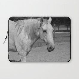 Horse In Black And White Laptop Sleeve