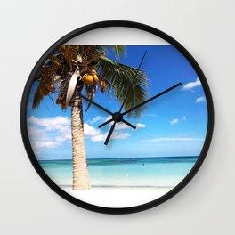 Pardise beach palm Wall Clock