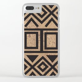 African Tribal Pattern No. 114 Clear iPhone Case