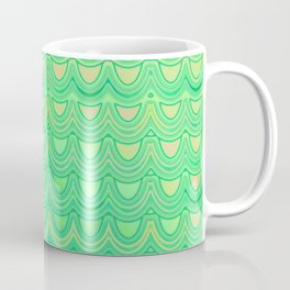 Mermaid Scales Yellow Green Coffee Mug