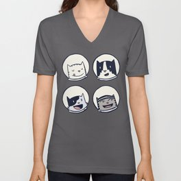 CatStronauts Team Heads Unisex V-Neck