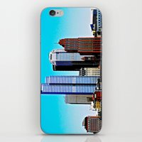 pittsburgh iPhone & iPod Skins featuring Pittsburgh Morning by Biff Rendar