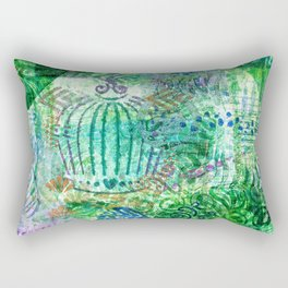 Caged Greens Rectangular Pillow