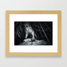 Deep in the NOPE forest Framed Art Print