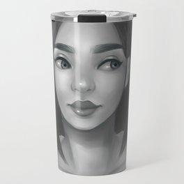 Grayscale Travel Mug