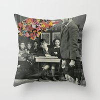lost in translation Throw Pillows featuring Lost In Translation by Nico Padayhag