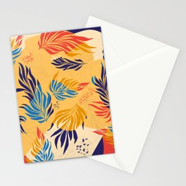 Primary Colors Leaves Stationery Cards