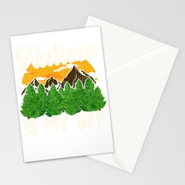 Nature Is My BFF Cute Outdoors Campers & Hikers Stationery Cards