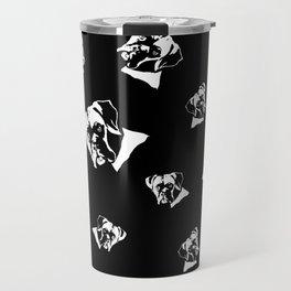 Boxer Dog Black White Travel Mug