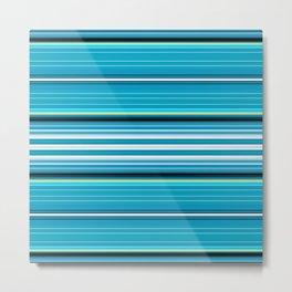 Classic Blue Stripes Metal Print