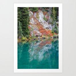 Blue Lake Reflections Art Print