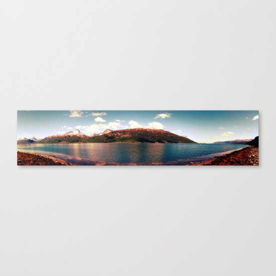 fjord landscape panorama, norway Canvas Print