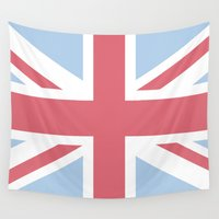 union jack Wall Tapestries featuring Union Jack by Alesia D