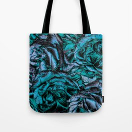 Great Garden Roses with silver dust,turquoise Tote Bag