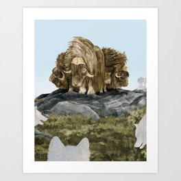 The Wolves Are Closing In Art Print