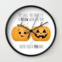 You're Such A Pun-Kin! Wall Clock