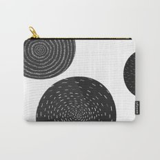 Back and White Retro Mod Flowers by Friztin Carry-All Pouch