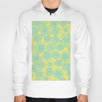 floral pattern Hoodies featuring floral pattern by Nastya Bo