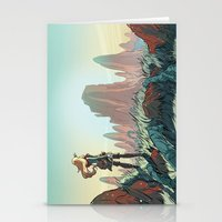 brand new Stationery Cards featuring Brand new world by LaurenceBaldetti