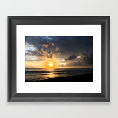 Sunset on Playa Dominical Framed Art Print