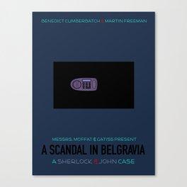 A Scandal in Belgravia Canvas Print