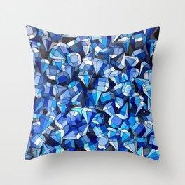Fond Bleu Throw Pillow