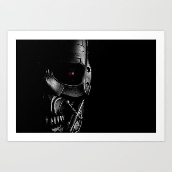 Endoskeleton Art Print