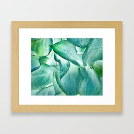 532 - Abstract hosta design Framed Art Print