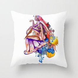 High on Love Throw Pillow