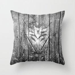Decepticon Monochrome Wood Texture Throw Pillow