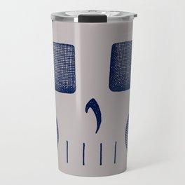 Skull Linework (Dark Blue / Gray) Travel Mug