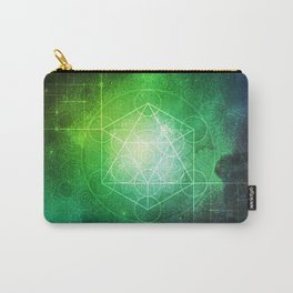 Abstract Deep Space Portal Blue-Green Carry-All Pouch