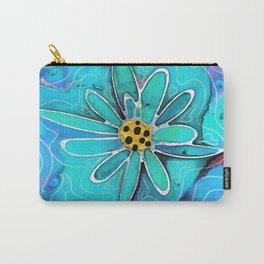 Blue Floral Art - Diva Flower - Sharon Cummings Carry-All Pouch