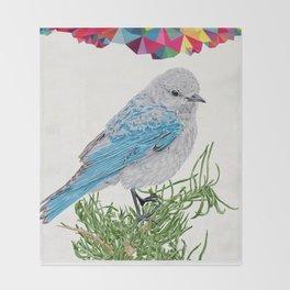 Mt Bluebird Throw Blanket