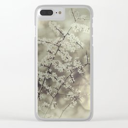 hawthorn blossoms Clear iPhone Case