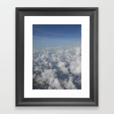Above the Cloud Puffs Framed Art Print