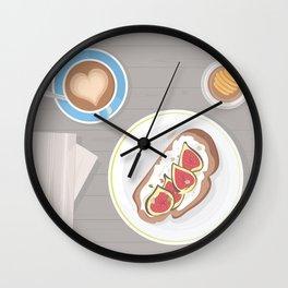 Fig toast Wall Clock
