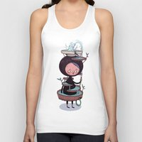 suit Tank Tops featuring Bath Suit by Kensausage