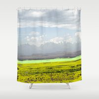 desert Shower Curtains featuring Desert by lookiz