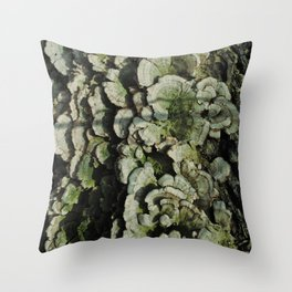 Forest Mushrooms Throw Pillow