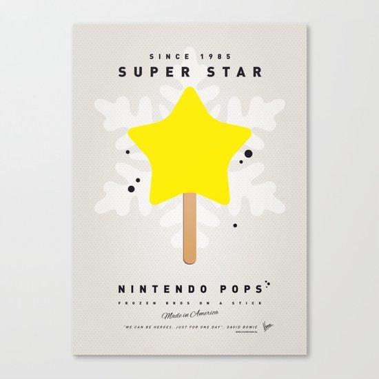 My NINTENDO ICE POP - Super Star Canvas Print