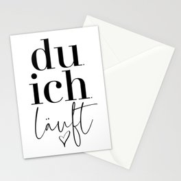 Du Ich Läuft Stationery Cards