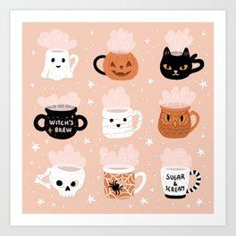 Spooky Mugs Art Print