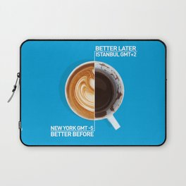 Coffee - nyc vs istanbul Laptop Sleeve