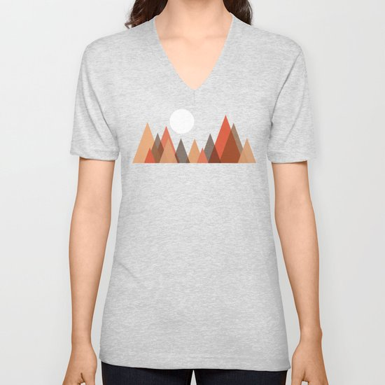 From the edge of the mountains Unisex V-Neck