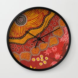 Aboriginal summer Wall Clock