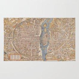 Vintage Paris Map Rug