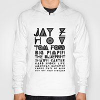 jay z Hoodies featuring Eye Test - JAY Z by Studio Samantha